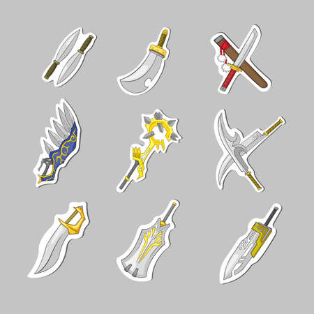 rpg: Creative sword collection set, create by vector Illustration