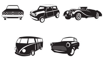cabriolet: Sets of silhouette cars 2, create by vector Illustration
