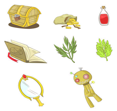 Magical items collection set, create by vector Vector