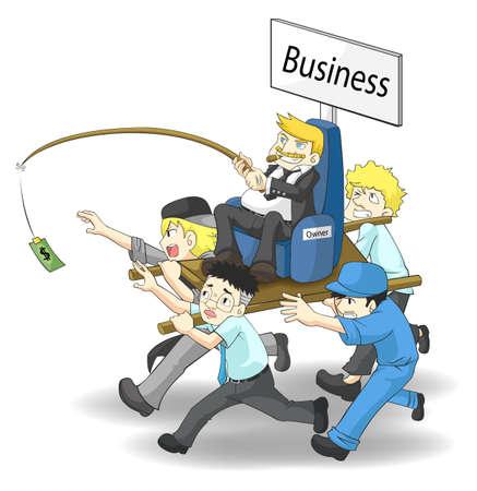 insulto: Como propietario de un negocio o de un acaudalada CEO manejar su negocio �Qu� posici�n va a ser, un hombre de salario o un propietario
