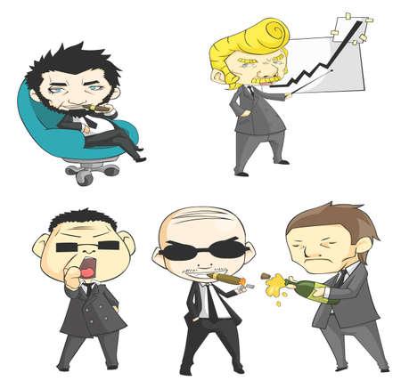 wealthy lifestyle: SD mafia collection set  Illustration