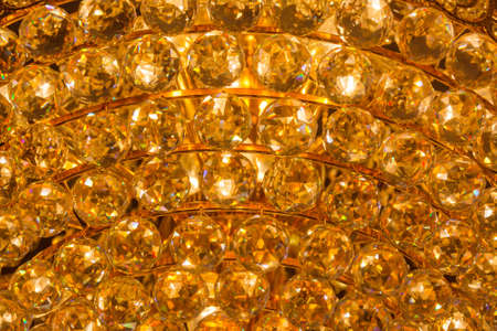 Closeup of a topaz crystal pattern from a Chandelier Stock Photo - 19509530