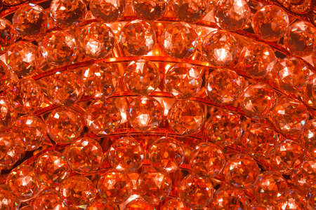 Closeup of a fire crystal pattern from a Chandelier photo