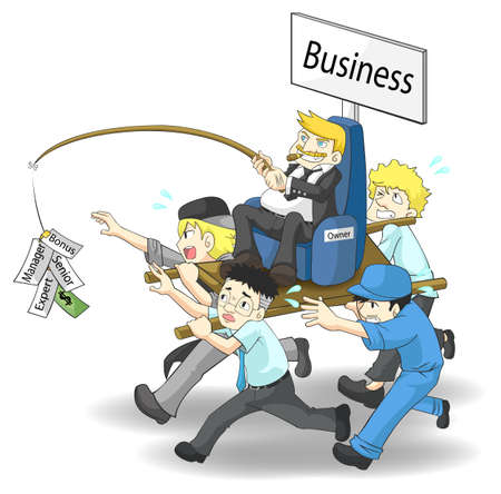 workload: How a wealthy business owner or a CEO run his business  Which position will you be, A salary man or an owner   version 2