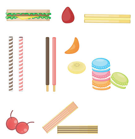 Various food collection set Vector