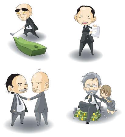 SD mafia boss (or CEO), create by vector Stock Vector - 19702665