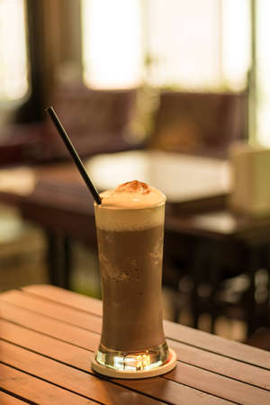 Cappuccino smoothie on the cafe photo