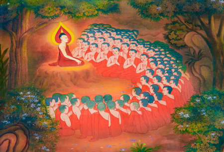 layman: Buddhist monks arise fro m layman who understand the truth and decide to become a monk