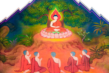 thai monk: Monk Siddhattha have five companions following him at first  They all want to practice themselves to attain enlightenment