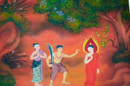 massacre: The Buddha has eliminate all the lust, greed, anger, and delusion from the roots of ind  He save the bandit Angulimala even when the bandit tries to kill him  At that time Angulimala already massacre 999 lifes and he want the buddha to be his thousand vic