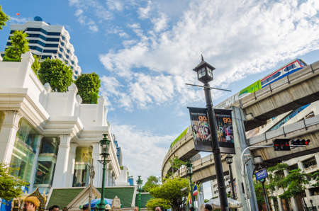 BANGKOK, THAILAND - JUNE 8: Thai government promotes Rachaprasong road as the center of economic and modern tourism of Thailand on June 8, 2013. Rachaprasong road locates in the middle of Bangkok which most foreigners live in.