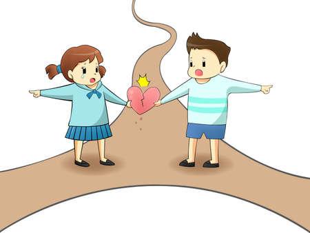 pas d accord: Quand un amant est sur le chemin diff�rent, il va d�truire leur relation? cr�er par le vecteur