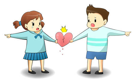 When a lover is on different path, will it destroy their relationship? create by vector Vector