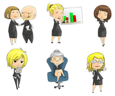 financial managers: SD businesswomen, create by vector Illustration