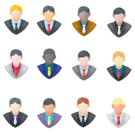 Zestaw biznesmen ikony