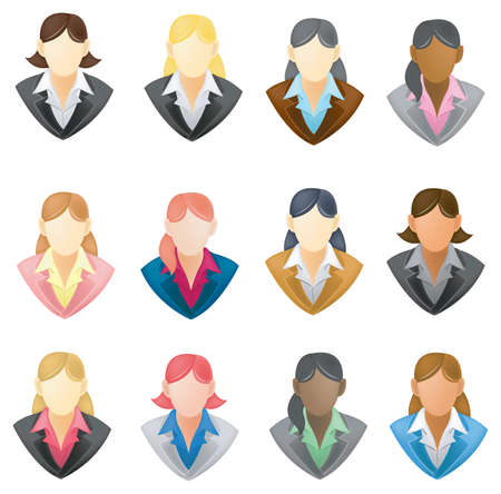 Set of businesswoman icon Stock Vector - 20771420
