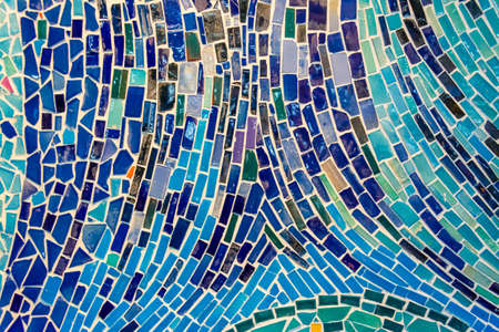Abstract wall decorated of colorful tile texture  It can be used as background photo