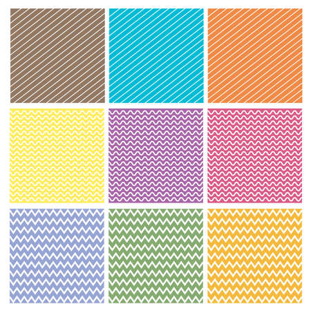 Various colorful pattern background set Vector