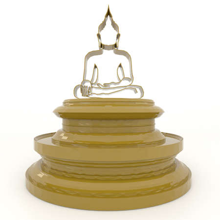 buddha statue: A transparent Buddha