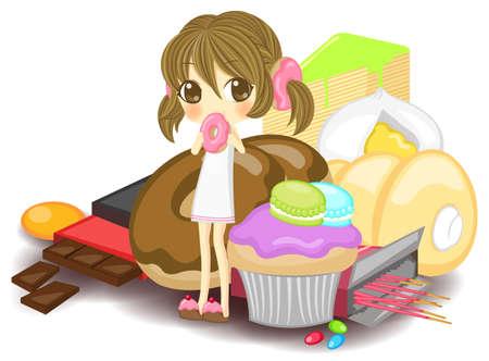crepas: Poco ninfa en el montón de dulces