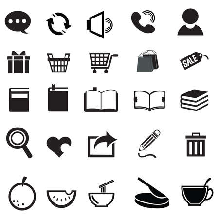 Various universal icon collection set Vector