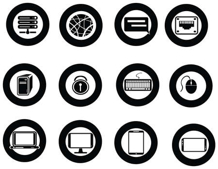 Various universal IT icon and app collection set Vector