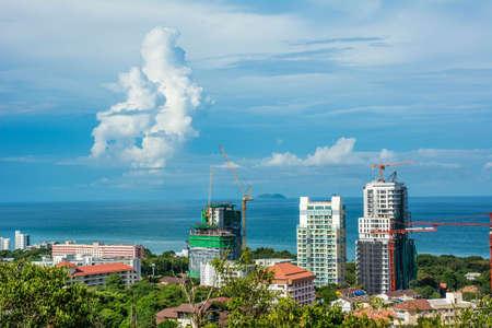 pattaya thailand: Beautiful sea city landscape of Pattaya, Thailand Stock Photo