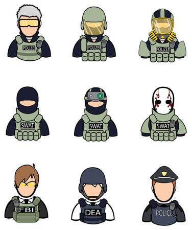vision nocturna: Soldado y la polic�a de la colecci�n icono conjunto 2.