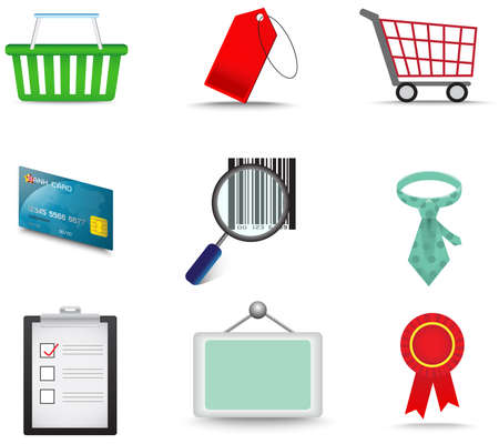 endorse: Sales and commerce material icon collection set , create by vector