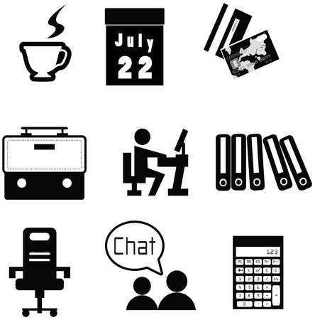 salary man: Office material icon collection set, create by vector