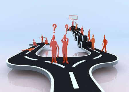 tembellik: Hangi yolu engel hayatında ilerleme ve başarı yaparken tembel yolu size hiçbir şey getiriyor tembellik ya da sıkıntı 3D seçecek Stok Fotoğraf