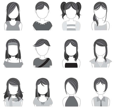 Silhouette women makeup and fashion icon collection set 2, create by vector Stock Vector - 23864755