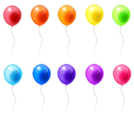 Colorful balloon icons in isolated background, create by vector Vector