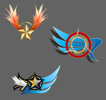 Trendy and fantasy sign icons, create by vector Vector