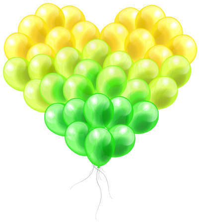 balloon vector: Colorful balloon in heart shape with isolated background, create by vector