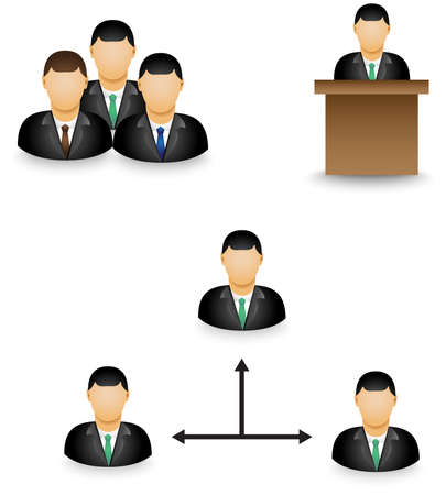 mlm: Set of businessman dummy icon in group activity
