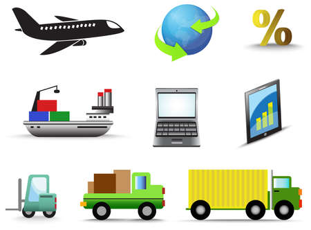 Logistic and transportation icon collection set, create by vector Vector