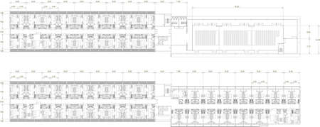 Interior and architect drawing plan of of residential apartment  photo
