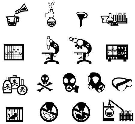 specimen: Silhouette science, chemistry, and engineering tool icon set 2, create by vector