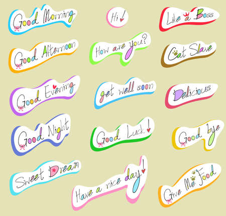 good bye: Graphical text and wording in handwriting illustration 2, create by vector