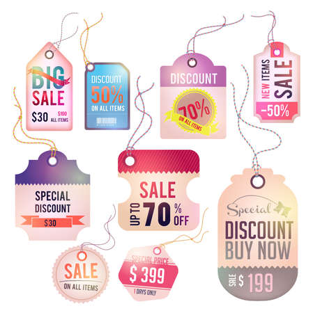 Modern glossy lady tag and labels design with sample text Vector