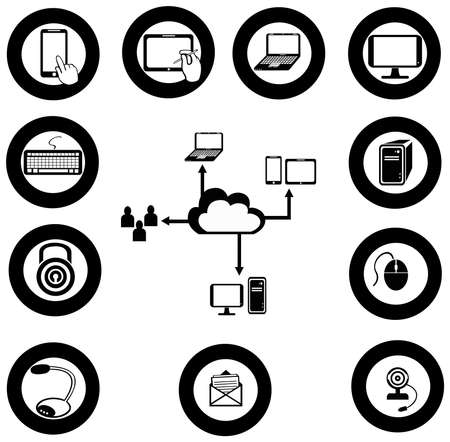 Vaus IT and network media icon and app collection  Stock Vector - 29069469