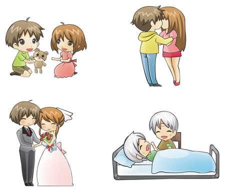 pareja comiendo: Hay 4 periodos de amor en la vida humana del niño-adolescente-adulto y anciano. Sólo el verdadero amor puede llegar a la etapa final, que isn