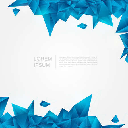 Blue crystal background in polygon and abstract style, create by vector Vector