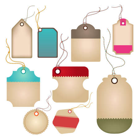 Modern glossy brown tag and labels design, create by vector Vector