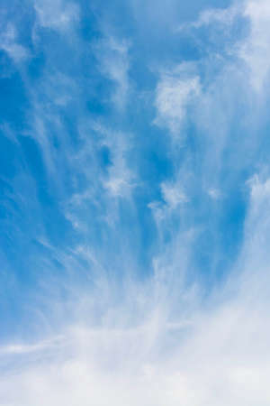 float cotton cloud: Nice cloud flowing in the blue sky background Stock Photo
