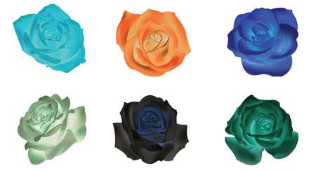 dull: Seis opaco rosa iconos conjunto de recopilaci�n, crear por el vector