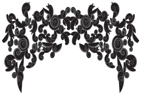 Silhouette curly frame shapes use for background decorations, create by vector. Vector