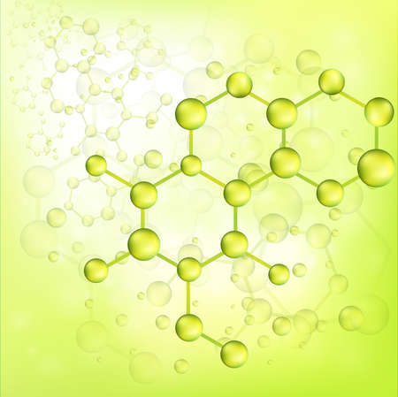 Green molecule bond background, create by vector Vector