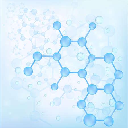 bond: Blue molecule bond background, create by vector